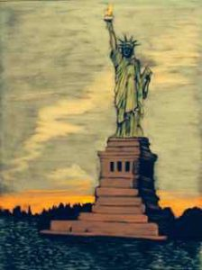 Chalk Art - Statue Of Liberty